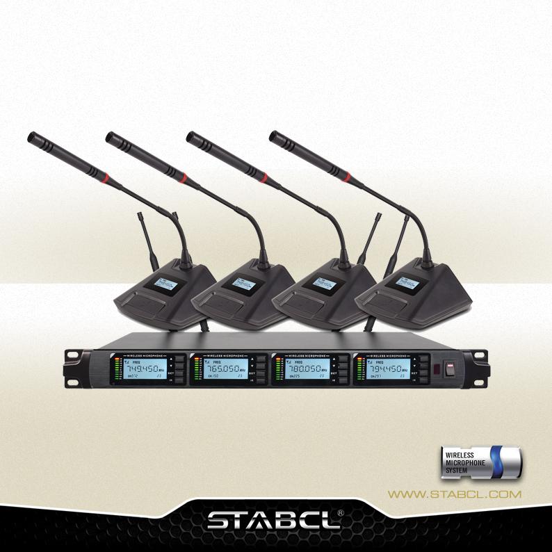 ST-8004 一拖四无线会议麦克风