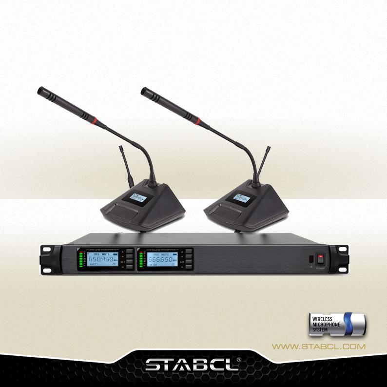 ST-8002 一拖二无线会议麦克风